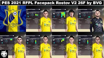 PES 2021 RFPL Facepack Rostov V2 26F by BVG