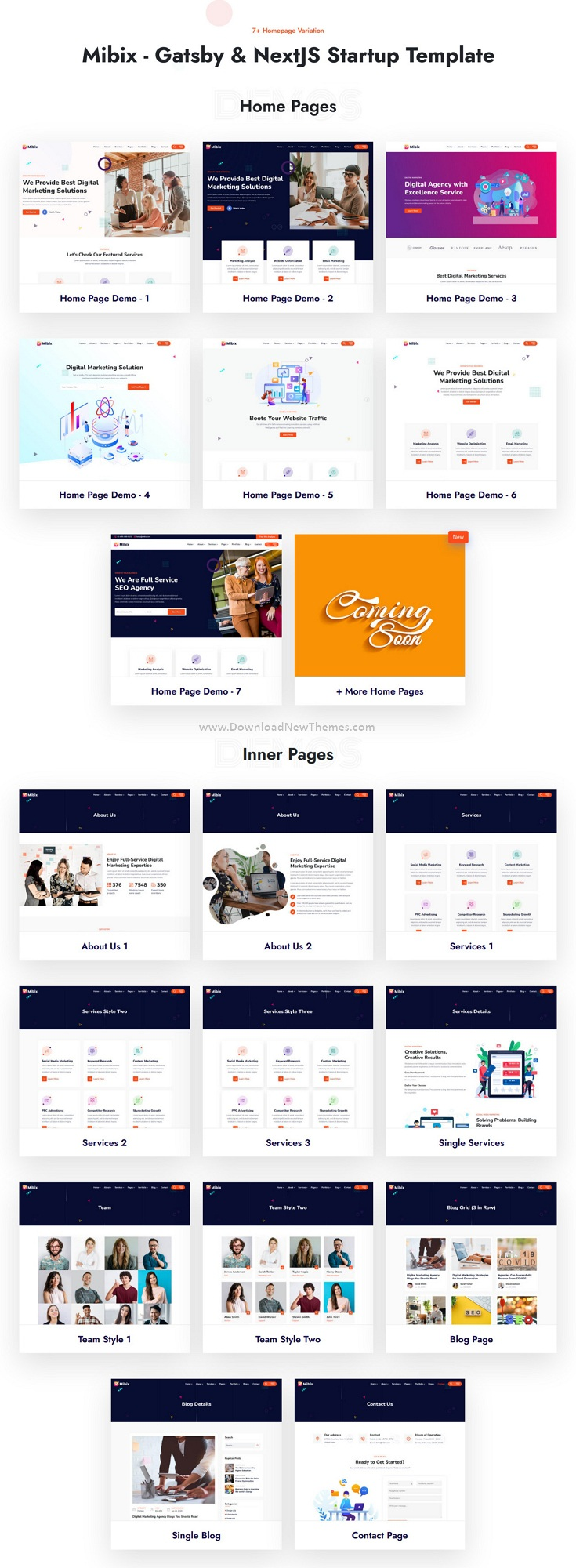 Gatsby and NextJS Startup Template