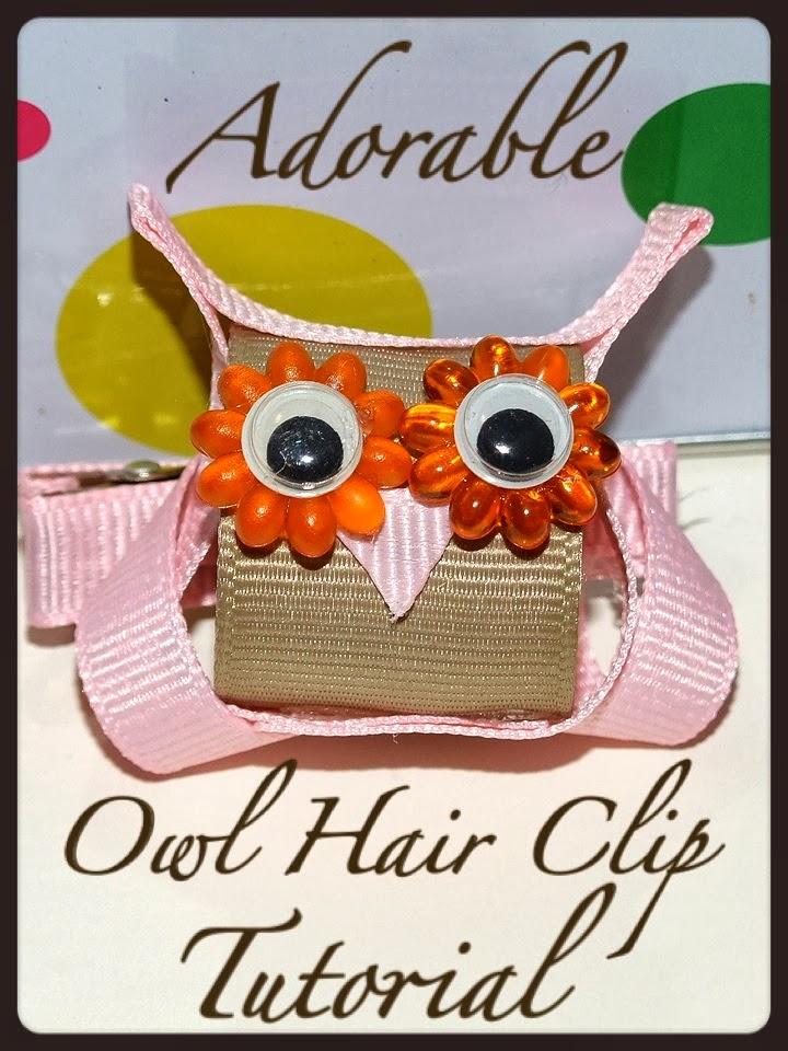 Paper Tape & Pins: DIY 3D Owl Hair Clip - A Tutorial