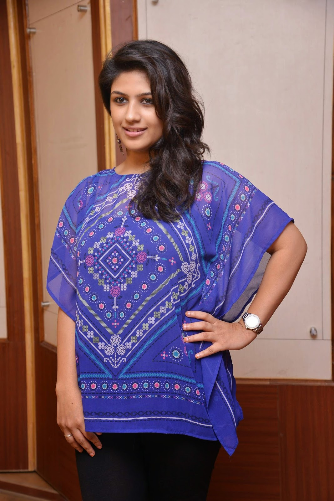 Actress Supriya Aysola Latest Cute Hot Exclusive Blue Top Dress Spicy Photos Gallery At Bhoo Telugu Movie Press Meet