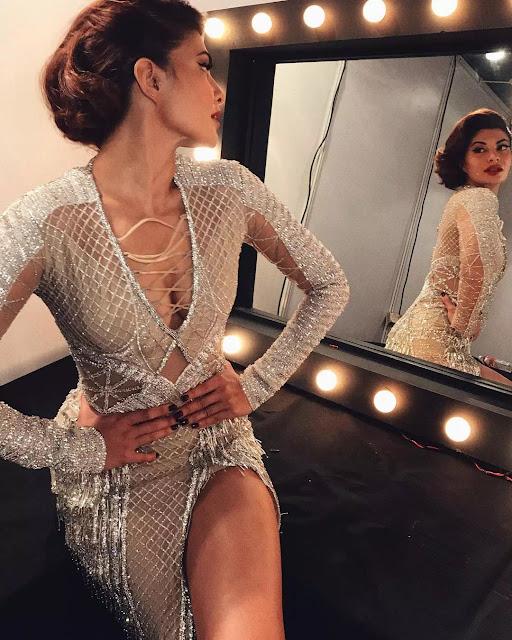 Jacqueline Fernandez updo side view