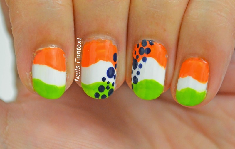 Nail Art: Celebrate Republic Day in Tricolor Style