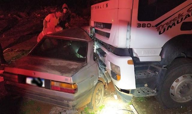 Criança fica gravemente ferida em acidente na BR-376, em Mauá da Serra