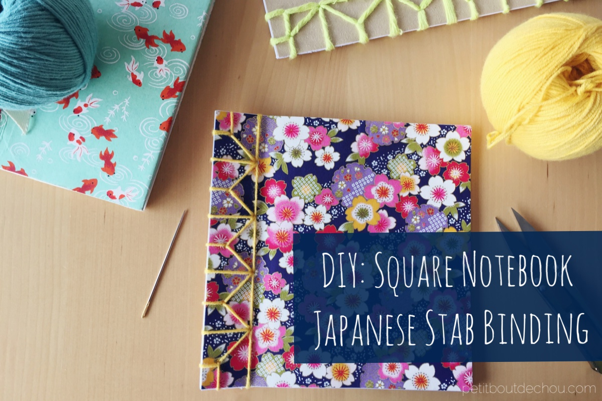 Diy Square Notebook Japanese Stab Binding Petit Bout De Chou