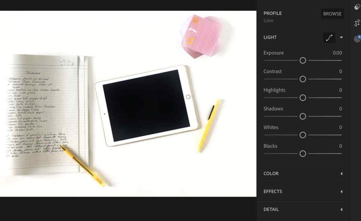 Adobe Lightroom App