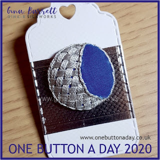One Button a Day 2020 by Gina Barrett - Day 3: Button Moon