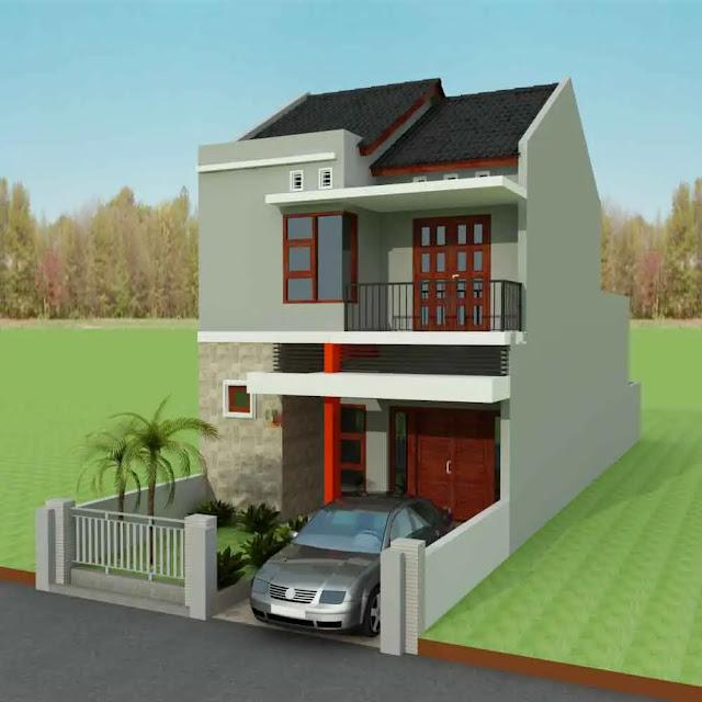Desain Rumah Minimalis 2 Kamar Type 36 dengan 2 Lantai