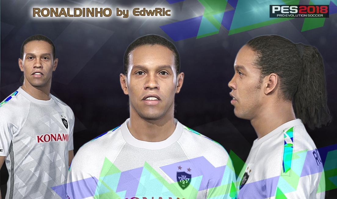 PES 2018 Ronaldinho Gaúcho Face by EdwRic
