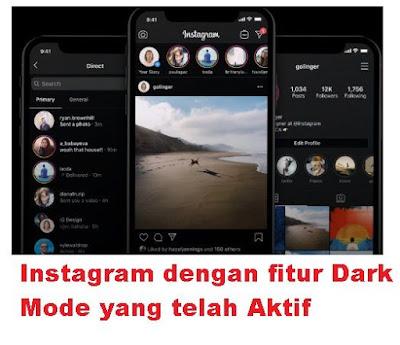 Apa yang dimaksud dengan Dark Mode Instagram Cara Mengaktifkan Mode Malam Instagram Fitur Dark Mode Instagram Terbaru