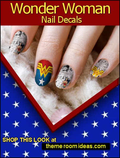 Wonder Woman Nail Decala superhero girls nails designs wonder woman nails super hero girls nail art