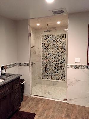 Bristol Deco Dots in Shower installation