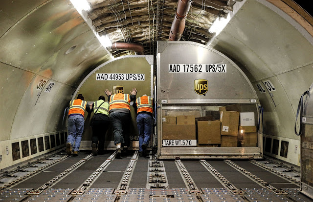 Inside Cargo Boeing 777 Freighter of UPS