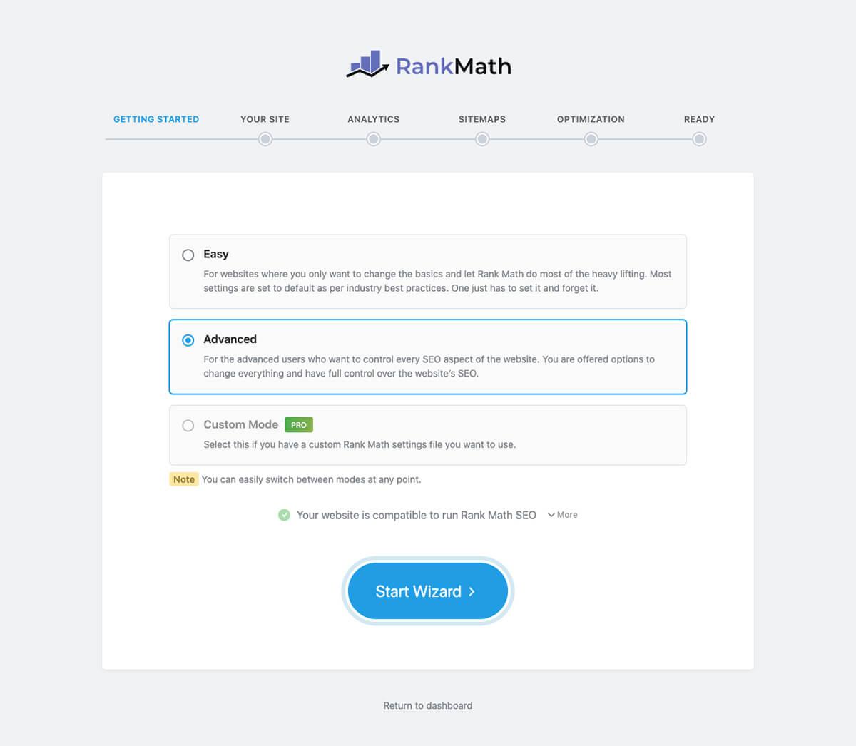 Rank Math Pro Seo Setup Wizard