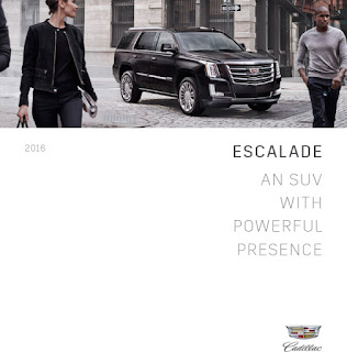 Downloadable 2016 Cadillac Escalade Brochure