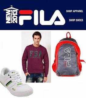 Upto 50% Off + Flat 32% Extra Off on FILA Clothing & Shoes at Jabong