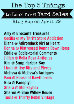 Find out what your favorite bloggers hunt for at garage sales!