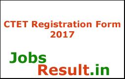 CTET Registration Form 2017