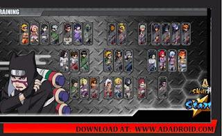 Character Naruto Senki Mod Shinobi Fighters Apk