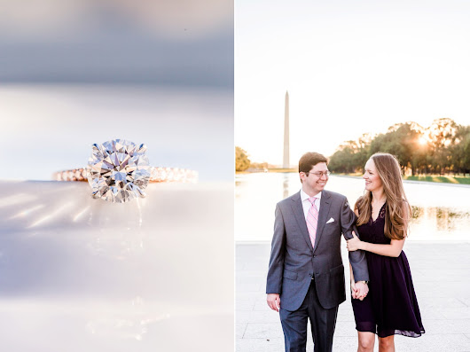 Washington, DC Sunrise Engagement Photos at the Lincoln Memorial | Olivia & Sean