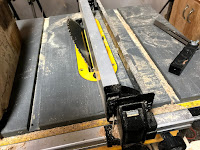 Table saw set for cutting the back support