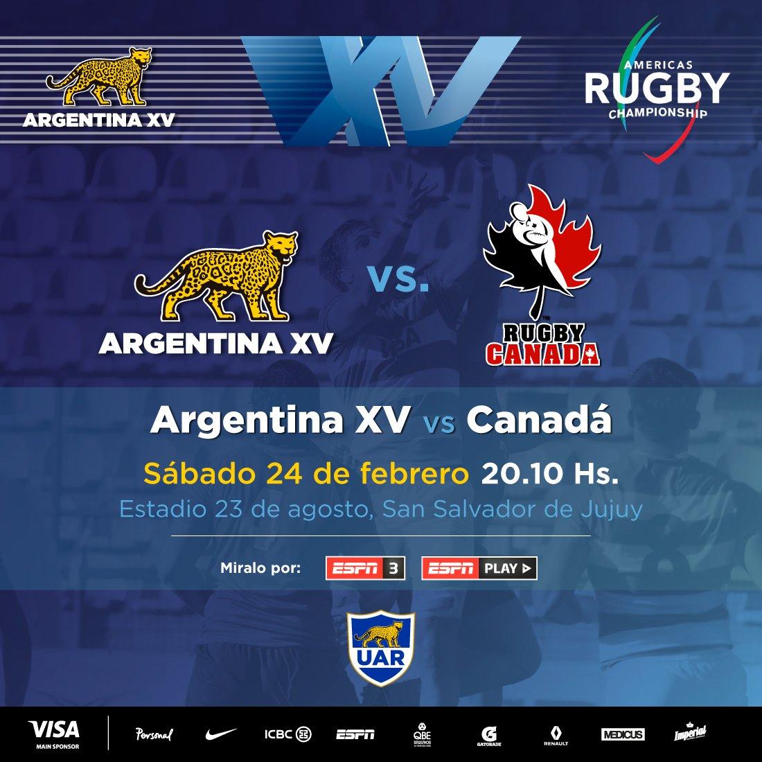 Argentina XV vs. Canadá en Jujuy en vivo por ESPN 3.