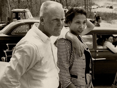 The real Richard and Mildred Loving who inspired the movie Loving