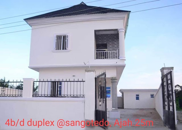 Specious 4 Bedroom Fully Detached Duplex for sale in Sangotedo