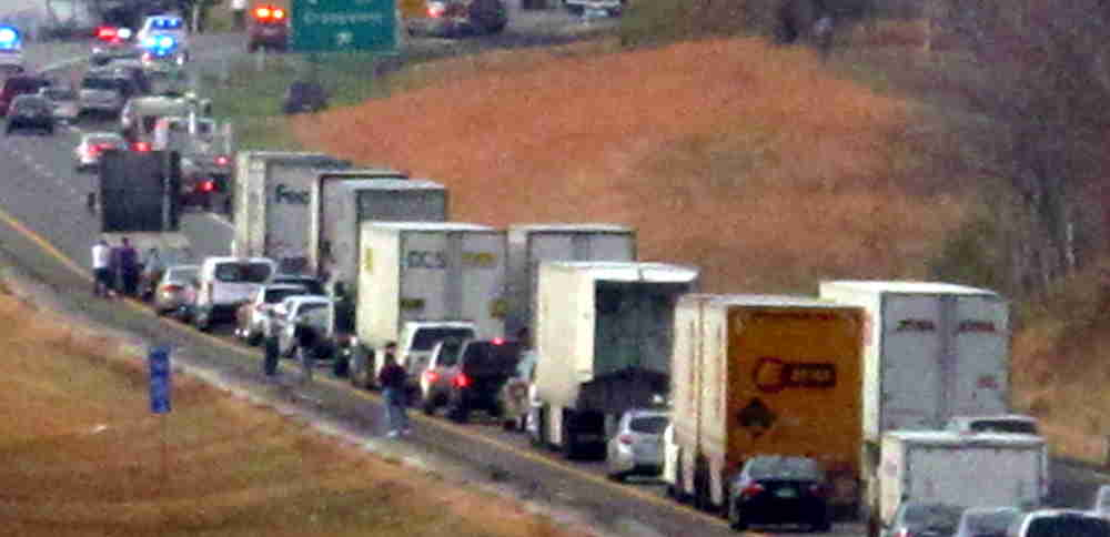 Jim Young Reporter: I-40 Westbound remains backed up though