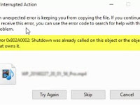 Error 0X802a0002 Pada Windows 10/8/7