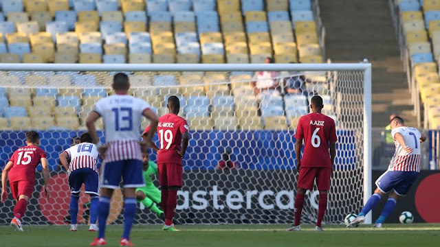 First+goal+Paraguay+vs+Qatar