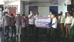 Bank Sumut Cabang Balige Serahkan Bansos Covid -19  Rp. 73.985.809 Kepada Pemkab Toba