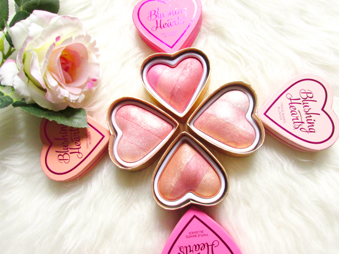 Review: I Heart Makeup -  Blushing Hearts Triple Baked Blushers - Makeup Revolution