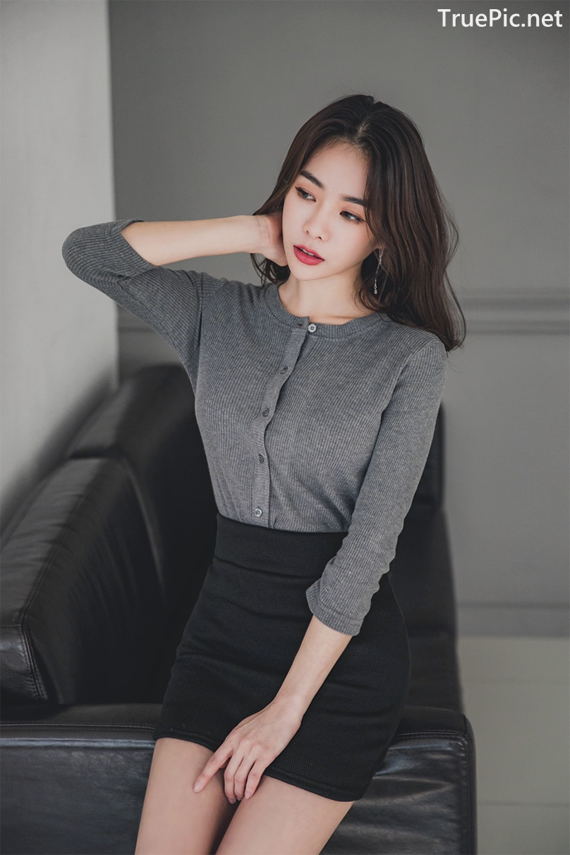 Image Korean Fashion Model - An Seo Rin - Office Dress Collection - TruePic.net - Picture-1
