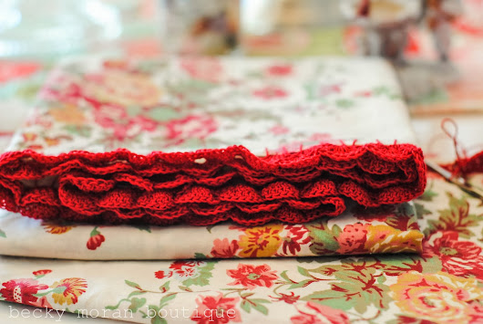 Handmade Pillowcases with Crochet Edging