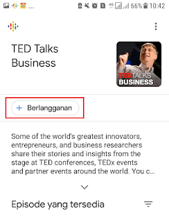 Berlangganan Podcast di Google Podcast