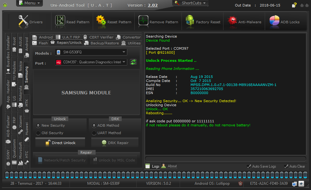 UNI ANDROID TOOL SOFTWARE FULL CRACK 100%