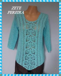 Blusa de Crochê, Blusas, blusa em croche feita através de vídeo aula