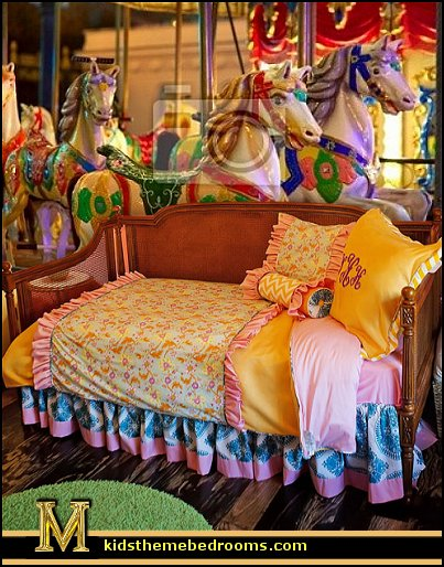 carousel theme bedroom ideas - carousel bedroom set - carousel horse theme girls bedrooms - carousel horse decor -  carousel merry go round wall decals - carousel theme baby bedrooms - girls bedrooms theme - carousel horse nursery theme - carousel themed nursery