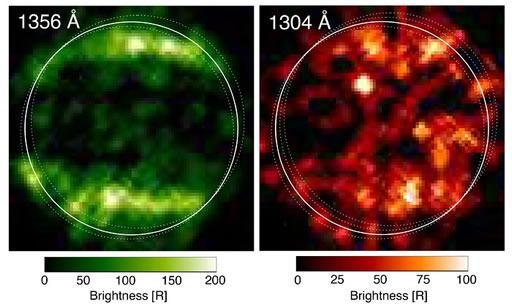 Observações ultravioleta do Hubble de Ganimedes em 1998