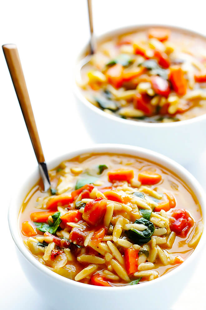 ITALIAN ORZO SPINACH SOUP #soup #healthy #comfortfood