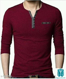 Men's Stylish Cotton Solid T-Shirts