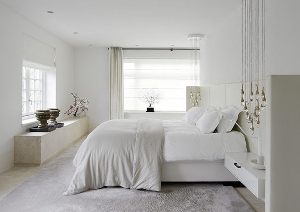 Modern luxury bedroom design by Piet Boon neutral colors white