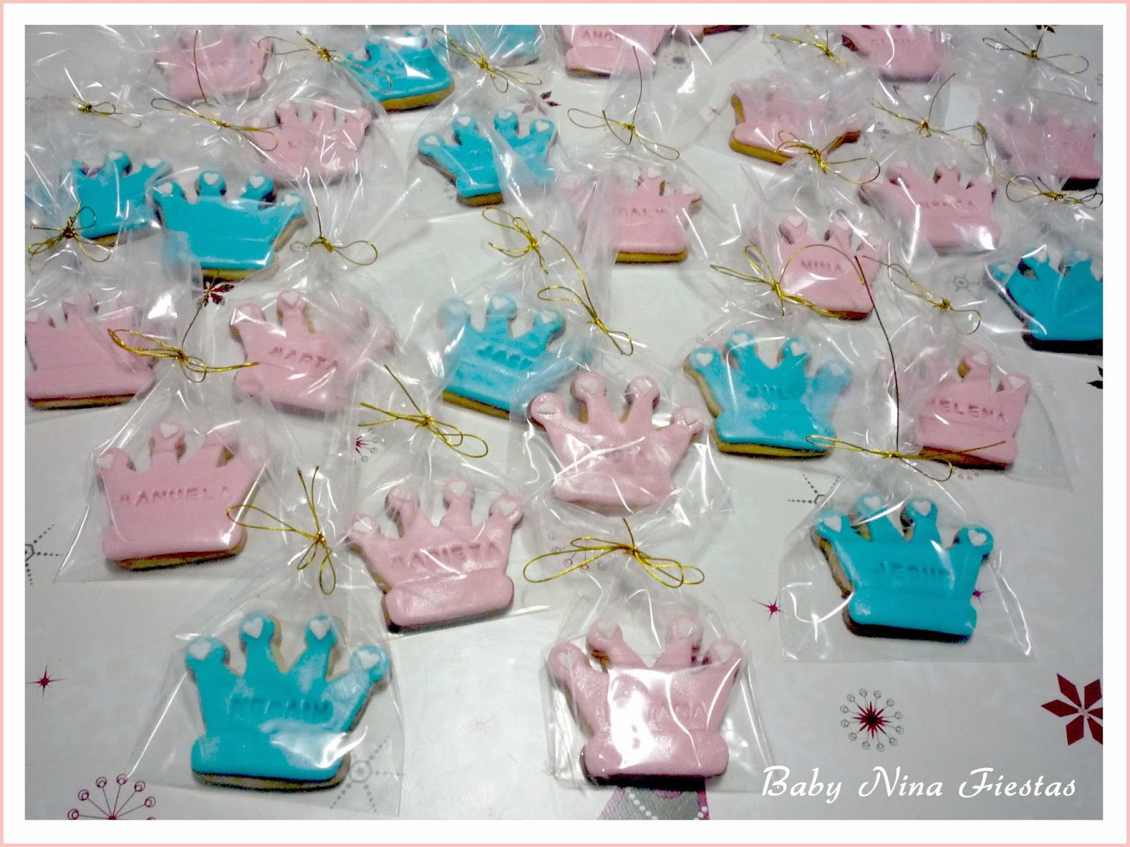 galletas de corona y princesas