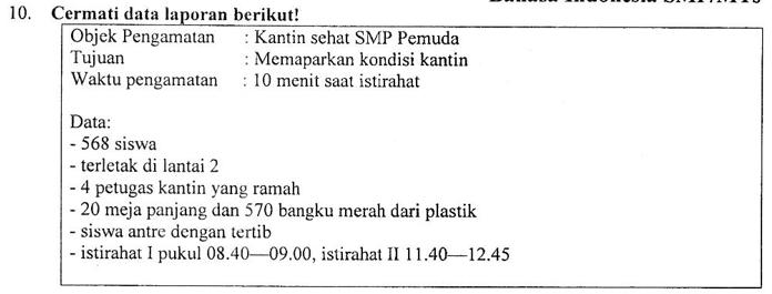 Contoh Soal Menyusun Teks Laporan Dan Pembahasan Soal Un 2019 Bahasa Indonesia Smp Mts Zuhri Indonesia