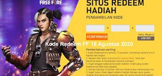 Kode Redeem FF 16 Agustus 2020