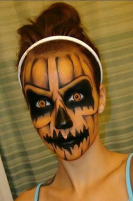 Hacer un Maquillaje calabaza halloween