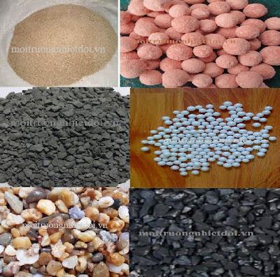 Các loại vật liệu lọc được dùng trong hệ thống lọc nước