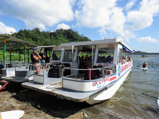 Costa Rica Itinerary: boat en route from Arenal to Monteverde