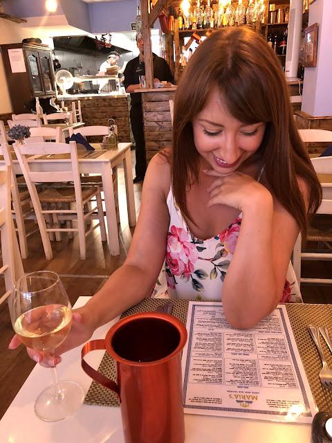 thelittlecardiffblog reading the menu at marias greek taverna