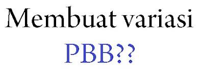 Membuat variasi formasi pbb